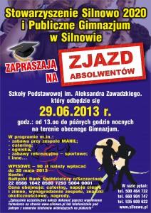 Plakat ZJADZ ABSOLWENTOW